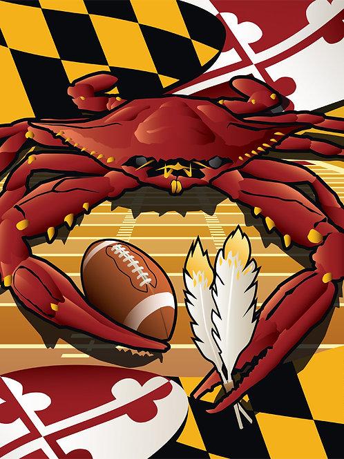 Sports Crab Redskins Poster Art Print ~ Citizen Pride