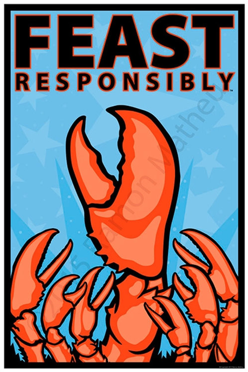 Feast Responsibly (lobster) Poster