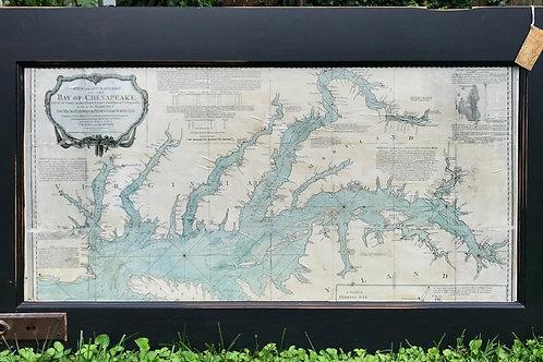 1776 Nautical Chart of the Chesapeake Bay
