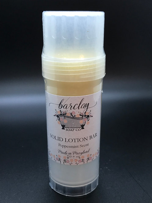 Solid Lotion Bar Peppermint