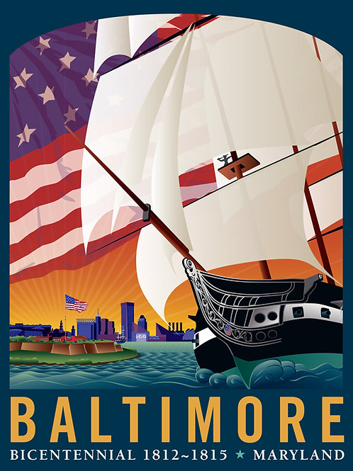 Baltimore: By The Dawn's Early Light Art Print ~ Citizen Pride