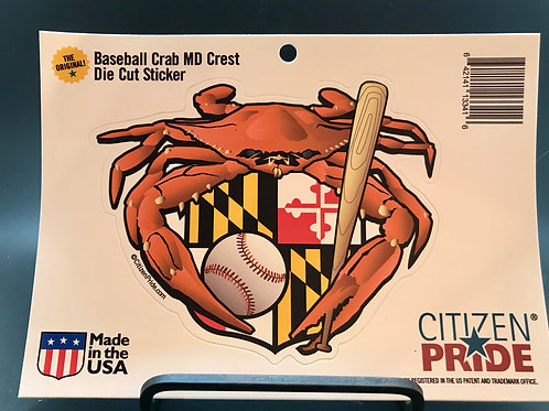 MD baseball crab sticker (1)