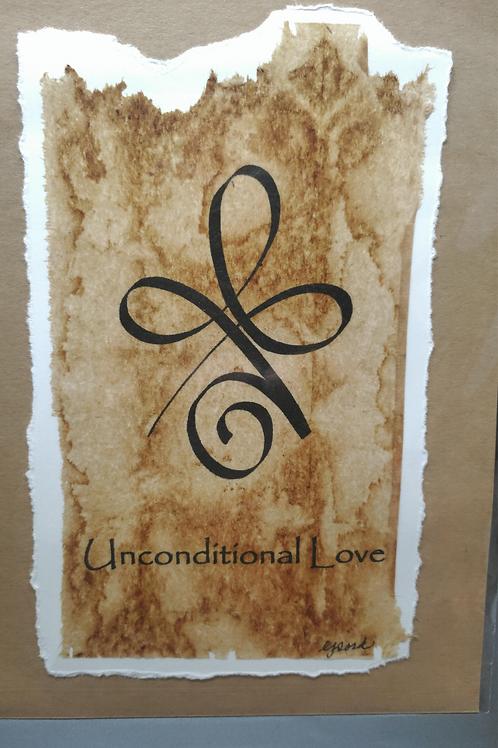 Tea Bag Art ~ Unconditional Love