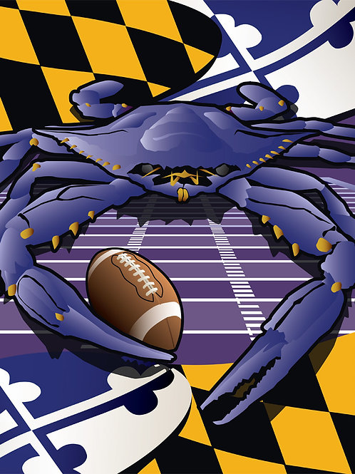 Sports Crab Raven Poster Art Print