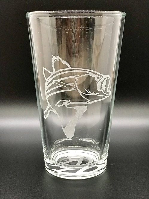 Crazy Ray Bass Etched Glass