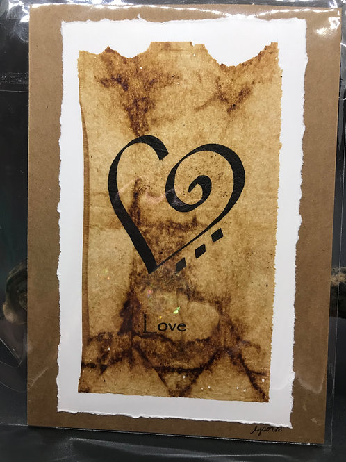 Tea Bag Art ~ Love ~ Liz Sork Designs