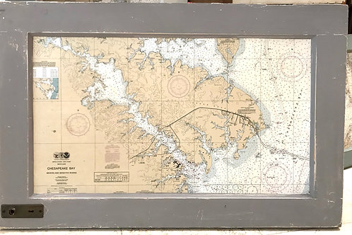 Nautical Chart/Vintage Door Panel ~Resouled by Marilyn