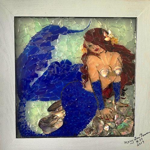 """Sharna, The Mermaid"" #37  Sea Glass Art"