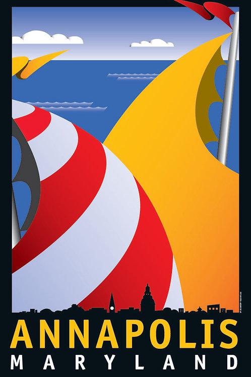 Annapolis Sails Art Print