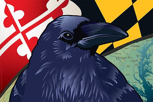 Maryland Raven Art Print