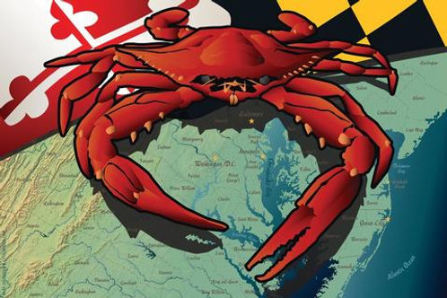 Maryland Blue Crab Art Print ~ Citizen Pride