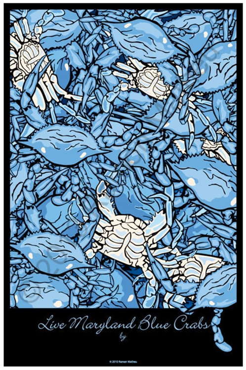 Maryland Blue Crabs Poster