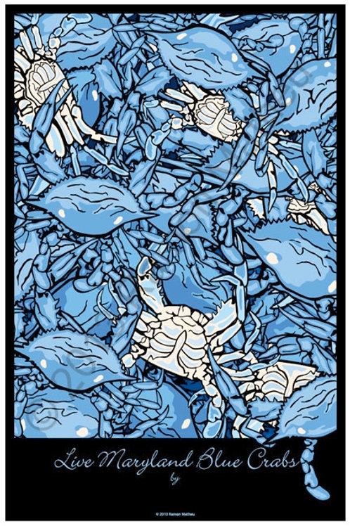 Maryland Blue Crabs Poster ~ Ramon Matheu