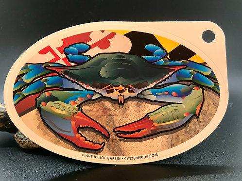 Blue Crab, MD flag sticker (1)