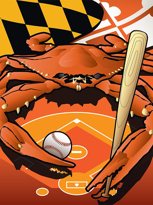 Sports Crab Oriole Poster Art Print