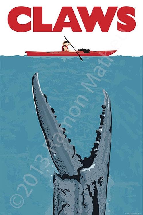 CLAWS (crab) Poster ~ Ramon Matheu