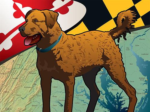 Maryland Chessie Art Print ~ Citizen Pride