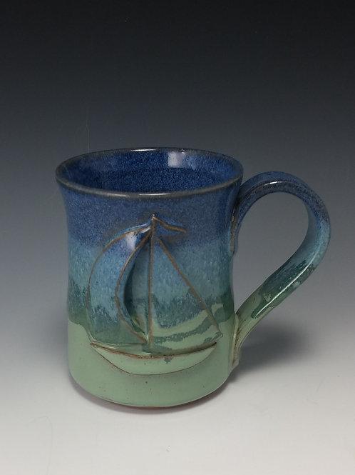 Sailboat Mug ~ Quirk-n-Bach Pottery