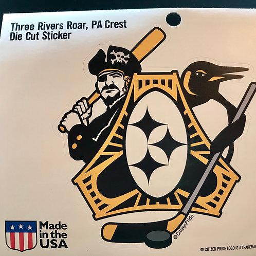 Three Rivers Roar PA Sticker (1)