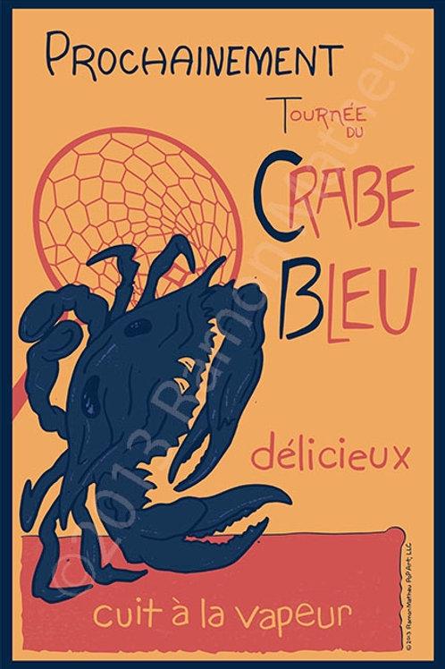 Crabe Bleu Poster ~ Ramon Matheu