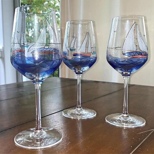 Sailboat Wine Glass ~ Chesapeake Bay Co