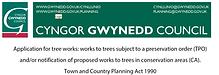 TPO application in Gwynedd