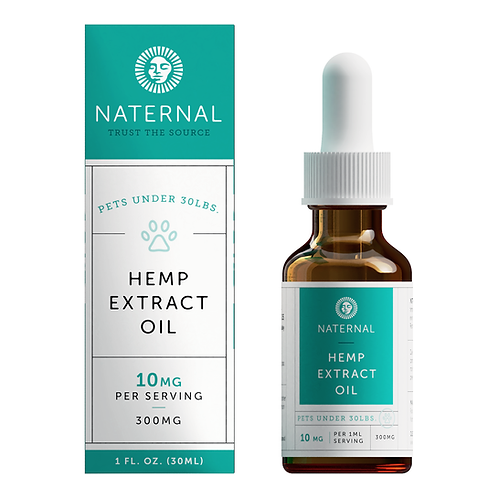 Naternal Pet Hemp Oil Extract  300 mg/10 mg per 1 ml