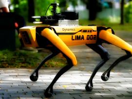 Robot Dog Enforces Social Distancing