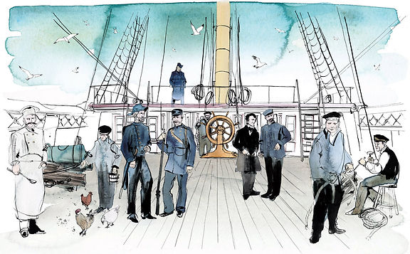 Fregatten jylland mandskab planche_toril