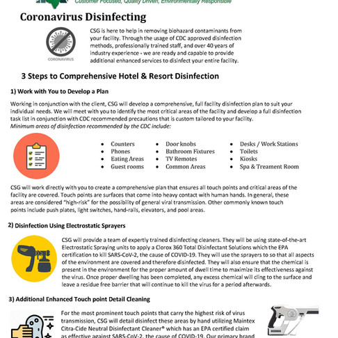 COVID - 19 Disinfecting Services
