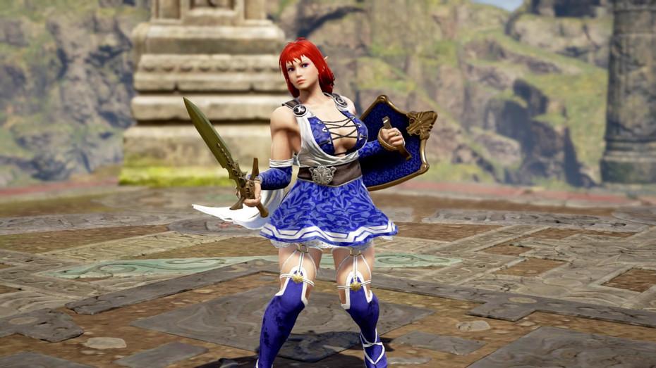 Alis cosplays Sophitia Alexandra