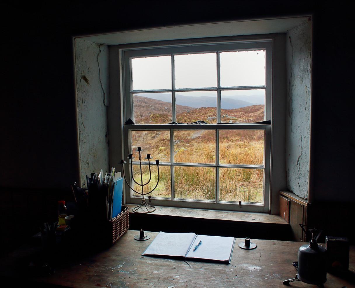 Window at Coire Fionnaraich Bothy, North West Highlands
