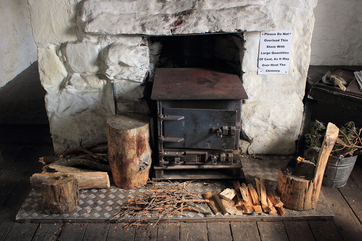 Fireplace at Ruigh Aiteachain, Cairngorms