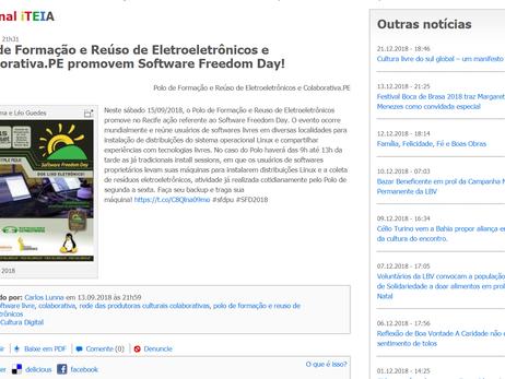 Polo de Formação e Reúso de Eletroeletrônicos e Colaborativa.PE promovem Software Freedom Day!