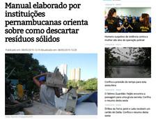 Manual elaborado por instituições pernambucanas orienta sobre como descartar resíduos sólidos 08/05/19