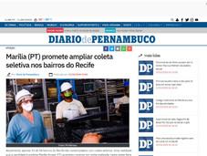 Marília (PT) promete ampliar coleta seletiva nos bairros do Recife