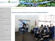 Semas promove plenária do Fórum de Resíduos Sólidos - 28/11/2019