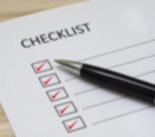 Checklista takbesiktning