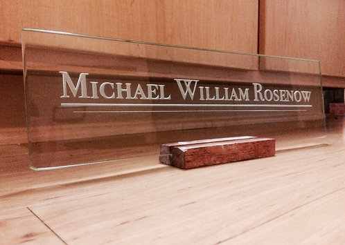 Executive Corporate Glass Nameplate