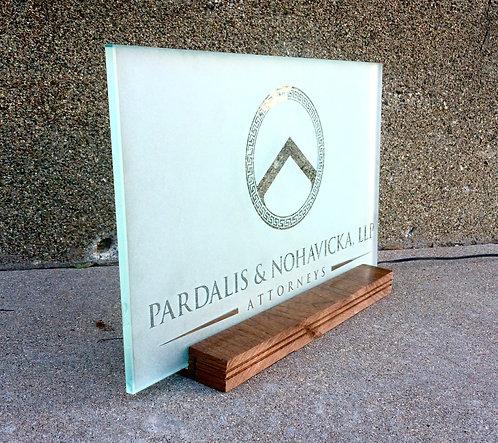 Executive Tabletop Sign - Horizontal