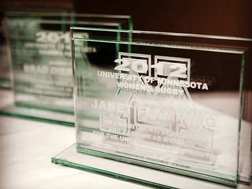 Glass Recognition Award (small) - Horizontal