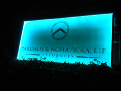 Pardalis lighted executive sign