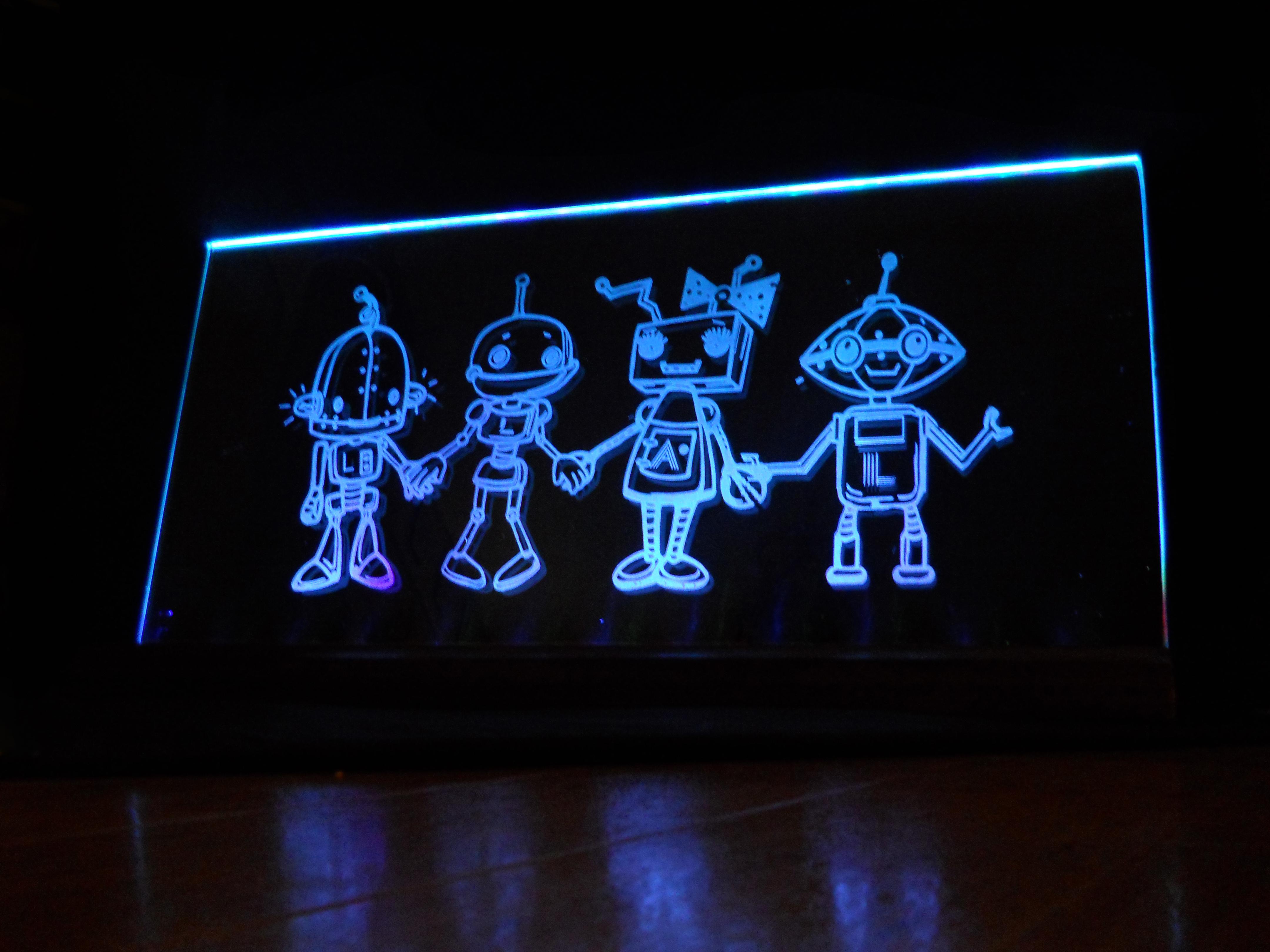 robot nightlight in blue