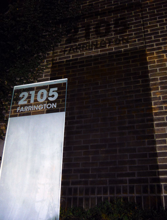 farrington address sign