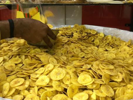 インド、ケララ州土産におすすめ、チップス屋さん