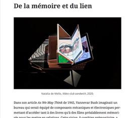 De la mémoire et du lien/Dominique Moulon dans In the Digital Age