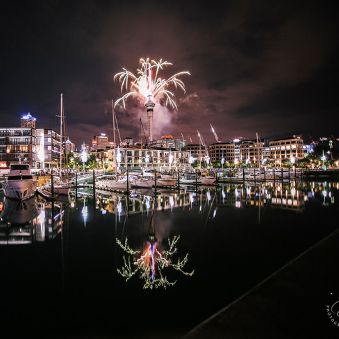 Auckland Waterfront Fireworks