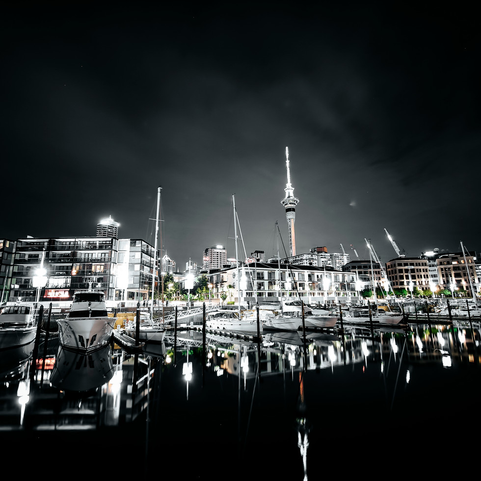 Auckland Waterfront by Night