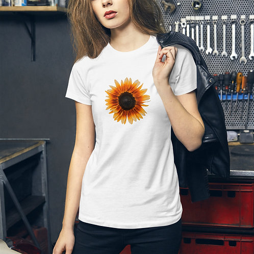 Women's Slim Fit T-Shirt Sunflower