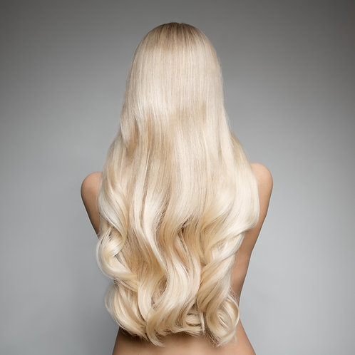 30 Inch Platinum Blonde Human Hair Extension